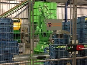 Spruiten afvul en palletiseer robot