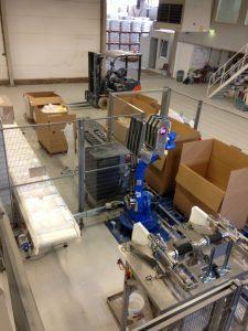 Ventiel zakken palletiseer industriële robot