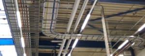Elektrische installatie Kabeltrace ladderbanen met kabels
