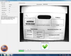 Machine vision barcode en tekst lezen doos Applicatie software engineering