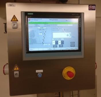 Mengen doseren en wegen besturingskast hmi touchscreen paneelbouw