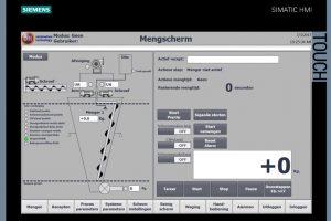 Menger automatisering HMI touchscreen Overzicht