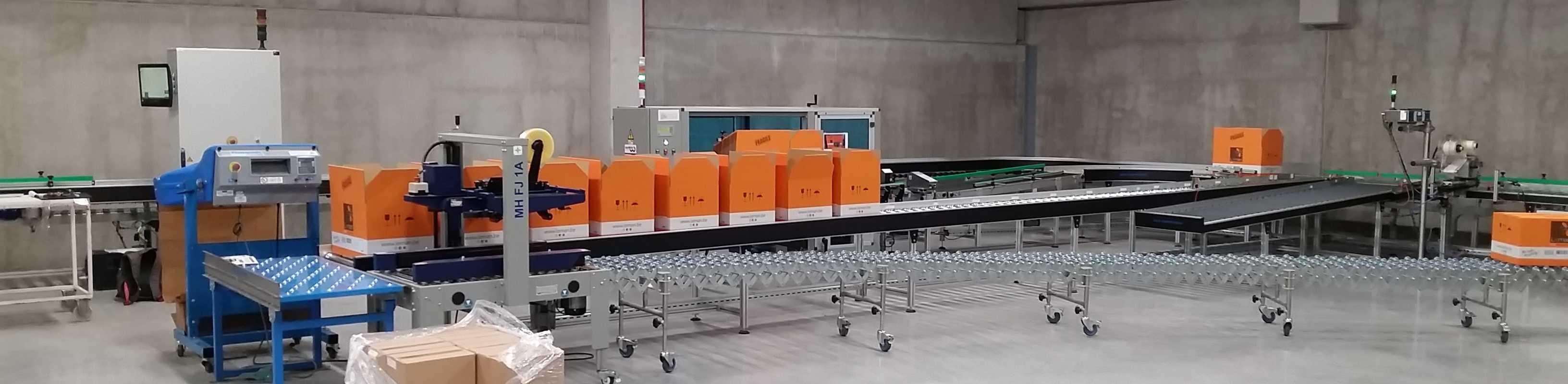 IA Slider industriele automatisering LS Logistiek transport systeem rollenbanen banner