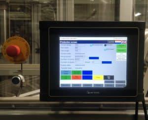 PS Padhandler bediening HMI touchscreen
