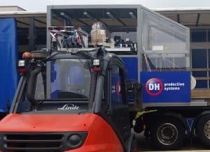 Transport en mechanische installatie en montage van de padhandler