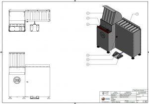 PS Spoelen kantelaar mechanische engineering 3d ontwerp