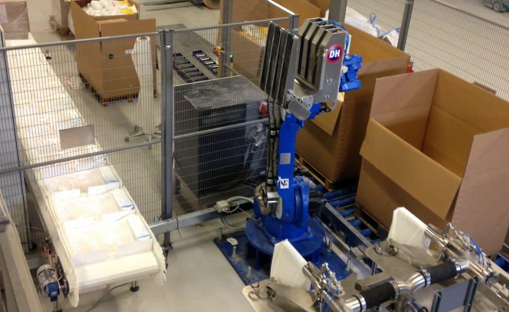 PS Slider Zakken afvullijn en palletiseer robot/casepacker robot