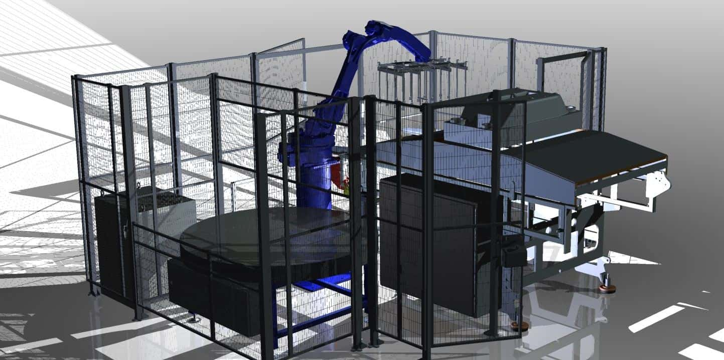 PS Slider 3D Robot cell pick en place thermovorm machine