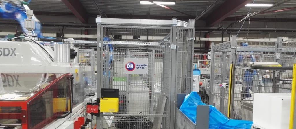 Slider klein robot cell op GN thermoforming machine