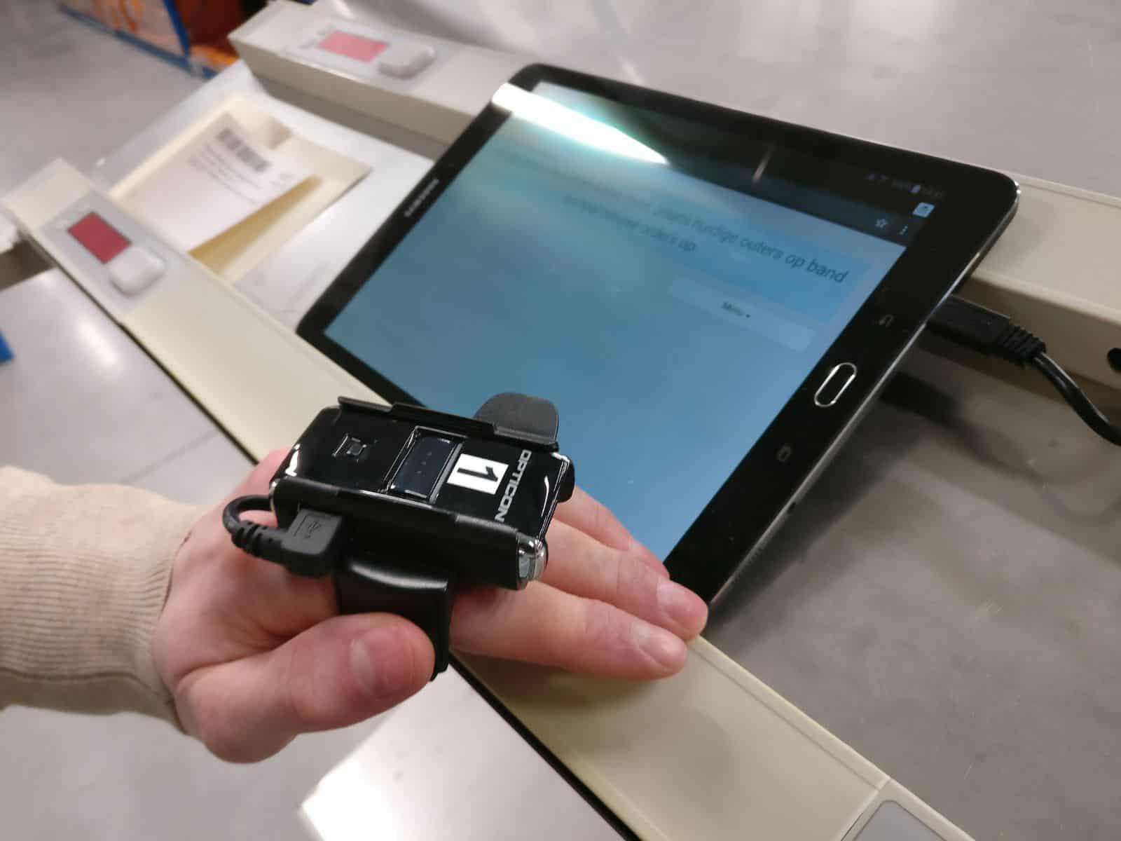 Pick app tablet pick to cart light combineer orders